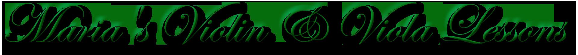 Maria's Violin & Viola Lessons Header Logo